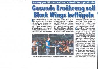 Gesunde Ernährung für die Black Wings